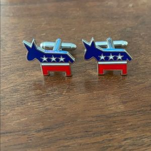 Other - NWOT Democratic Donkey cufflinks Red White & Blue